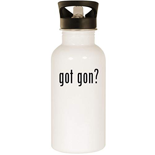 got gon? - Stainless Steel 20oz Road Ready Water Bottle, White -