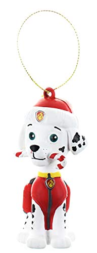 Paw Patrol Marshall with Candy Cane Fire Fighter Dalmatian Christmas Ornament