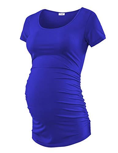 Maternity Shirt Maternity Tank Tops Maternity Top Womens Pregnancy Shirts Clothes Royal Blue M