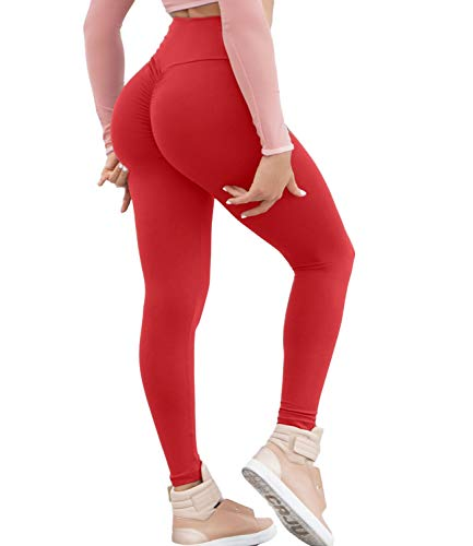 KIWI RATA Women Scrunch Butt Yoga Pants Leggings High Waist Waistband Workout Sport Fitness Gym Tights Push Up (Best Exercises For A Tight Bum)