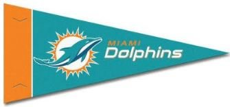 Felt Dolphins Pennant Miami (Zipperstop Officially Licensed Miami Dolphins NFL Mini Pennant, 4