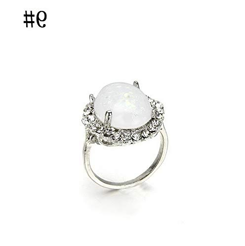 Crookston Silver Ring Woman Man White Fire Opal Moon Stone Wedding Engagement Size6-10 | Model RNG - 2472 | 9 Discount Wedding Personalized Napkins