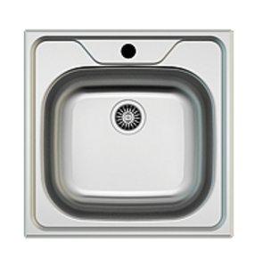 Spülbecken rund edelstahl matt  Edelstahl Einbauspüle I Küchenspüle / Spülbecken I Eckig 48 x 48 cm ...