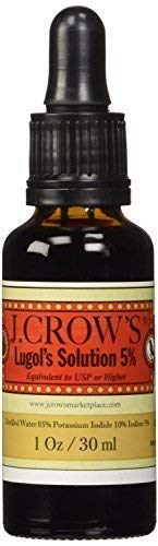 J.CROWS Lugols Solution of Iodine 5 Percent, Thyroid Support Supplement for Metabolism, Energy and Focus, Liquid Drops, Plus Understanding Arthritis as an Energy Disease Ebook