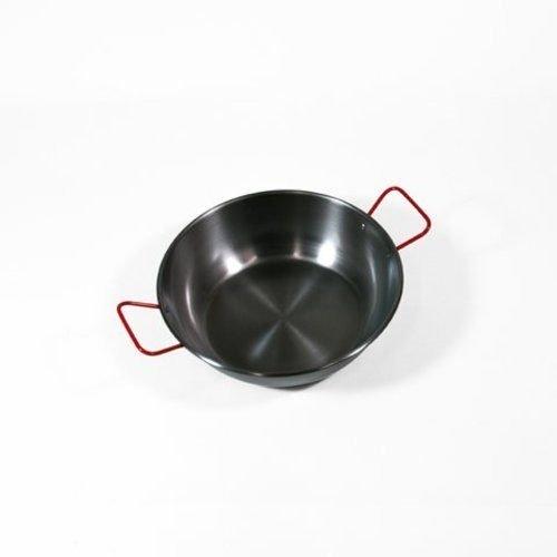 Garcima 28cm Deep Polished Steel Paella Frying Pan Cookware by Garcima