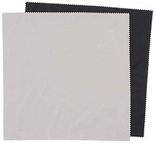 (Silver/Black Polishing Microfiber Cloth Large 10