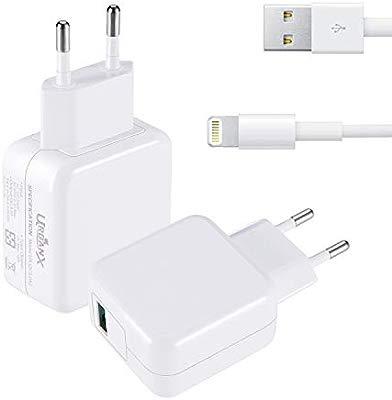 UrbanX 18W Cargador USB Quick Charge 3.0 - Cargador de Viaje Enchufe Carga Rápida para iPhone X XS MAX XR 8 7 6 6S Plus iPhone iPad Air Pro Mini (con ...