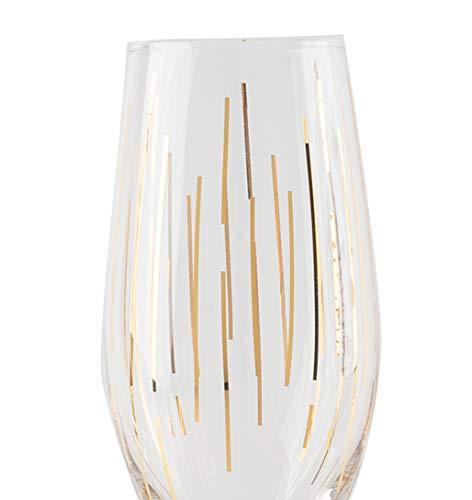 creative tops Mikasa Cheers Inciso bicchiere di cristallo Gold 210 ml