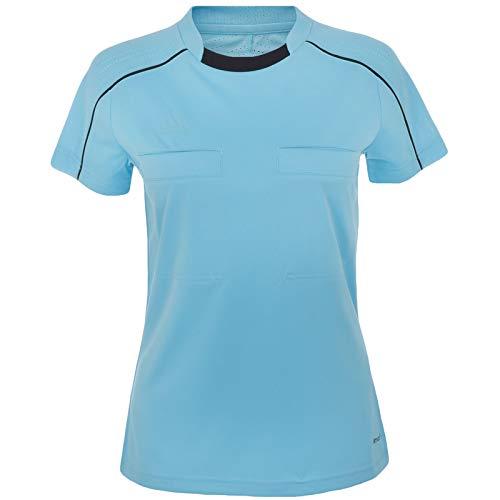 adidas Performance Womens Short Sleeve Soccer Referee Jersey Shirt - Blue - M ()
