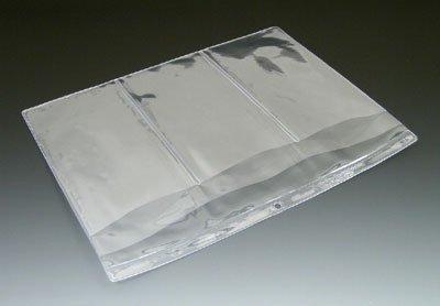 12-1/2'' x 10'' Multi Pocket Clear Vinyl Organizer with 4 Pockets & Hang Hole (10 Gauge) (100 Organizers) - AB-99-3-104