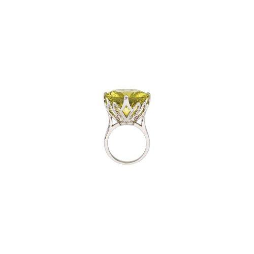 FB Jewels Green Gold Quartz Ring Size 7