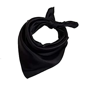 23″ Women's Classic Fashion Solid Color Silk Feel Square Scarf Neck Accessories