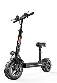 Electric Scooter, Adult Electric Scooter with 500W Motor Endurance 100KM, Adult Electric Scooter with Dual Bra