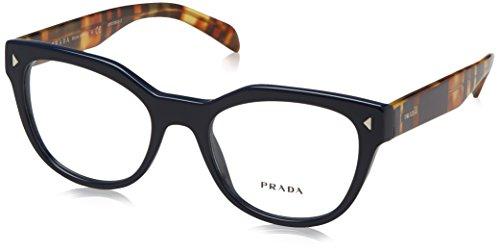Prada PR21SV Eyeglass Frames TFM1O1-51 - Blue - Eyeglass Womens Prada Frames