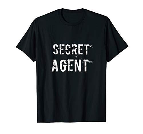 Secret Agent Halloween Costume Women (Secret Agent Shirt Distressed Halloween Funny Costume Spy)
