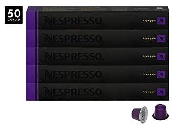 Nespresso Appregio OriginalLine Capsules, 50 Count Espresso Pods, Intensity 9 Blend, Full-Bodied South & Central American Coffee Flavors