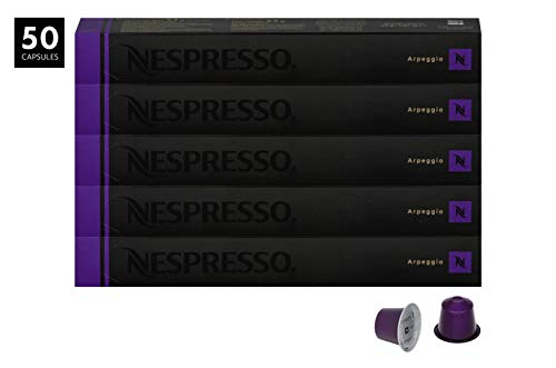 Nespresso Appregio Capsules for OriginalLine by Nespresso, 50 Count Espresso Pods, Intensity 9 Blend | Full-Bodied South & Central American Coffee Flavors