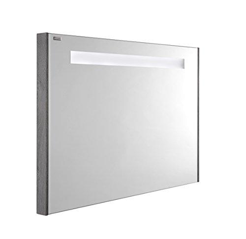 VALENZUELA Fine 32 Inch LED Backlit Bathroom Bathroom Vanity Mirror, Wall Mount, Stone Finish (VELU080700) by DAX