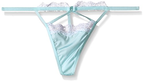 Jezebel Women's Claudia G-String, Bridal Blue, Small Bridal G-string