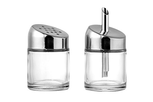 (Set of 2 Seasoning and Parmesan Dispensers - Multi Purpose Grated Cheese and Spice Shakers.)