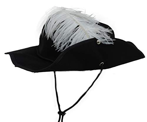 Three Musketeers French Soldier Feathered Hat -
