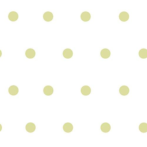 Chesapeake Kenley Green Polka Dots Wallpaper