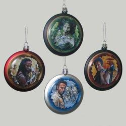 Kurt Adler 80mm The Walking Dead Disc Ornament 4/asstd.