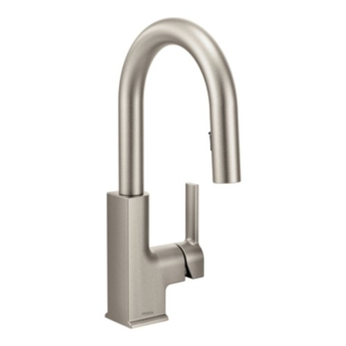 STO One-Handle High Arc Pulldown Bar Faucet, Spot Resist Stainless - Moen S62308SRS