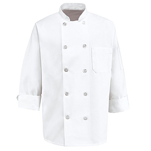 350 Chef Apparel  Pearl Buttons Chef Coat-Easy-Care Twill Chef Jacket for ()