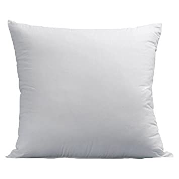 LuxyFluff Faux Down Synthetic Down Square Decorative Throw Pillow Delectable 23x23 Pillow Insert