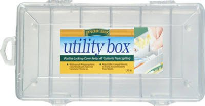 (10) UB6 South Bend 6 Compartment 9″ x 4″ Clear Plastic Utility / Tackle Boxes