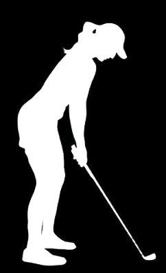 Makarios LLC Female Golf Silhouette Woman Decal Vinyl Sticker Cars Trucks Vans Walls Laptop MKR| WHITE |3.5 x 5.75|MKR065
