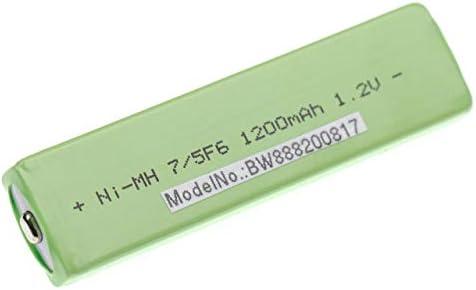 vhbw Akku 7/5F6, Ersatz für Panasonic RP-BP140H, RP-BP61, RP-BP62, Button Top, 1100mAh, 1,2V, NiMH