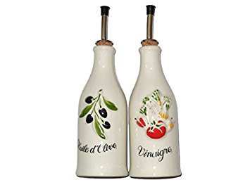 Revol No Drip Olive-Vegetable-Cooking Oil And Balsamic Vinegar Dispenser Bottles Bundle Set For Kitchen, Best Christmas Gifts for Women,Mom,Wife,Grandma,Girlfriend