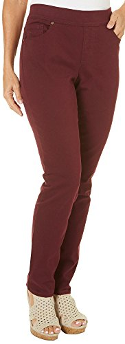 Gloria Vanderbilt Avery Pull-On Slim Leg Jeans Red 12