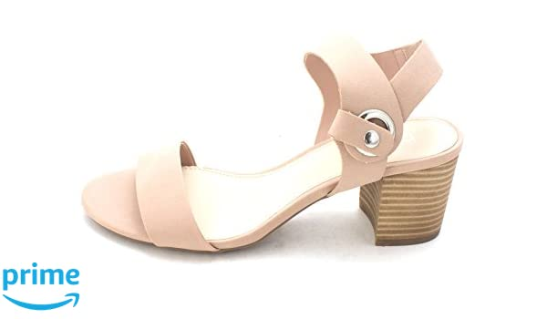 Bar III Womens Birdie Open Toe Casual Ankle Strap Sandals Blush Size 95