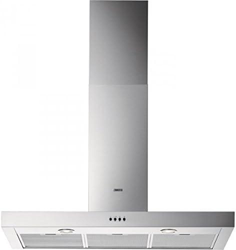 Zanussi ZHC92650XA De pared Acero inoxidable 650m³/h - Campana (650 m³/h, Canalizado, 71 dB, 51 dB, 71 dB, De pared): Amazon.es: Hogar