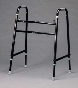 Bariatric Walker - 5'' Fixed & Swivel Wheels w/Glide Brakes
