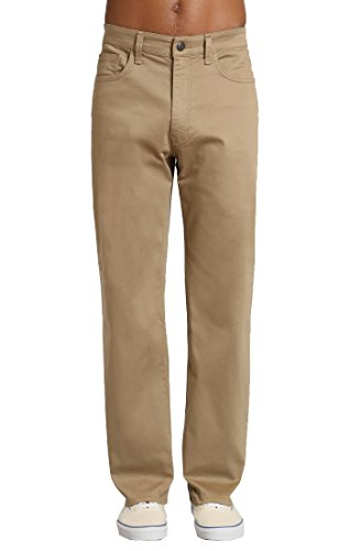 Mavi Men's Max Wide Leg Jeans, British Khaki Twill 34W X 32L
