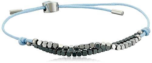 Skagen Women's Anette Silver and Black Semiprecious Stone - Silver Bracelet Skagen
