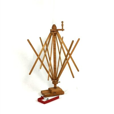 Strauch Yarn Swift / Skeinwinder Table Model Cherry by Strauch Fiber Equipment