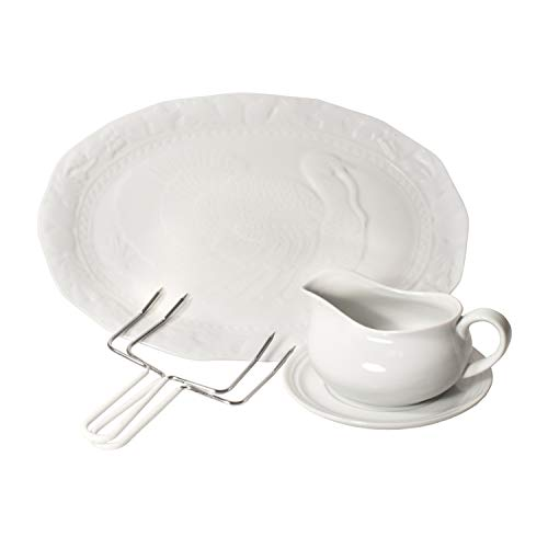 (Harold Import Co 3 Piece Thanksgiving Turkey Serving Bundle)