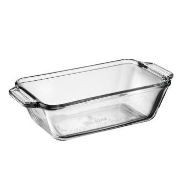 Fire-King Crystal molde para pan de 1-1/2 cuartos de galón: Amazon ...