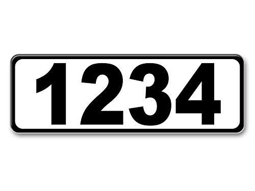 White Curb-Wrap, Reflective self-stick curb address