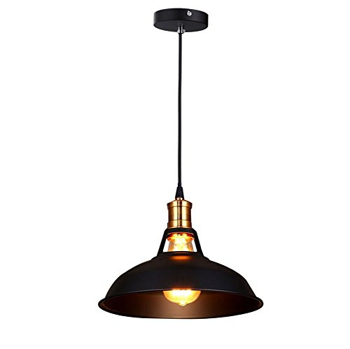 Fuloon Vintage Industrial Ceiling Light 1 Light Metal Shade