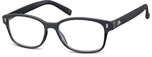 Montana Strength Plus 3.50 Black Textured Reading Glasses