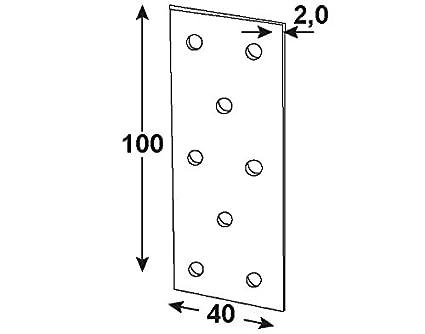25 St/ück HVG1550 verzinkt Connex Sparpack Flachverbinder 100 x 40 x 2 mm