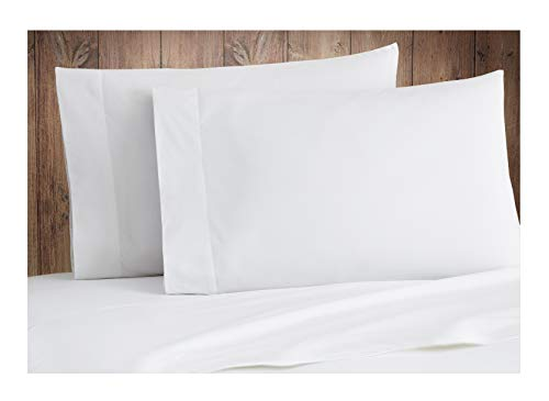 Tissaj 500-Thread-Count Organic Cotton Pillowcases Set - 500TC Standard Size Ultra White Color - 2 Piece Set - 100% GOTS Certified Extra Long Staple, Soft Sateen Weave - 4