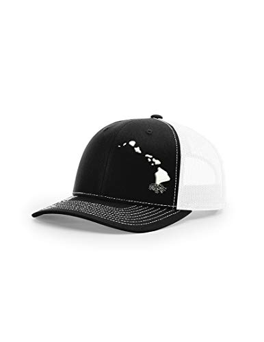 - Wear Your Roots Snapback Trucker Hat (One Size - Adjustable, Hawaii Black/White Mesh)