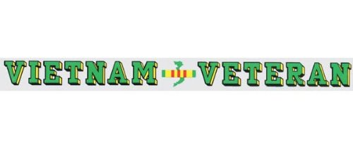 Vietnam Veteran - Window Strip Decal